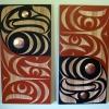 """acrylic on red cedar - 48x24"""" each"""
