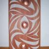 """acrylic on red cedar - 36x16"""""""